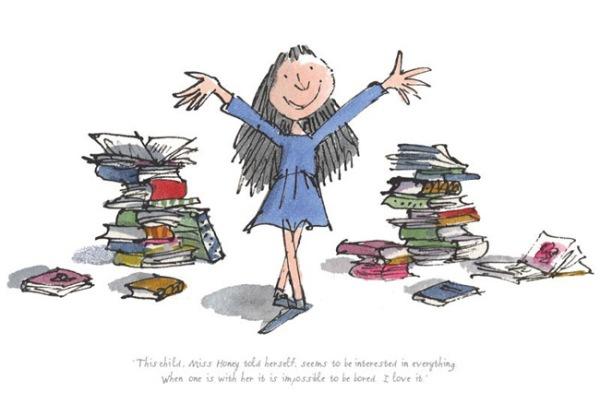 Matilda di Roald Dahl vista con gli occhi della fantasia da Quentin Blake