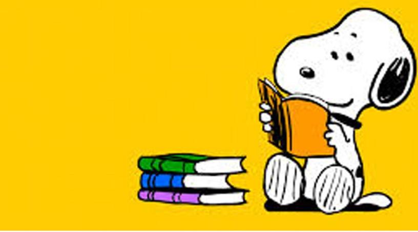 Snoopy che legge
